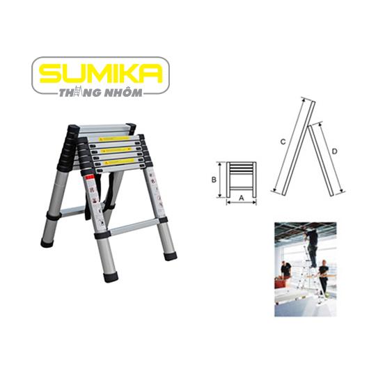 Thang rút nhôm chữ A Sumika SK 260P